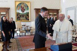 Папата го прими во аудиенција претседателот Пахор