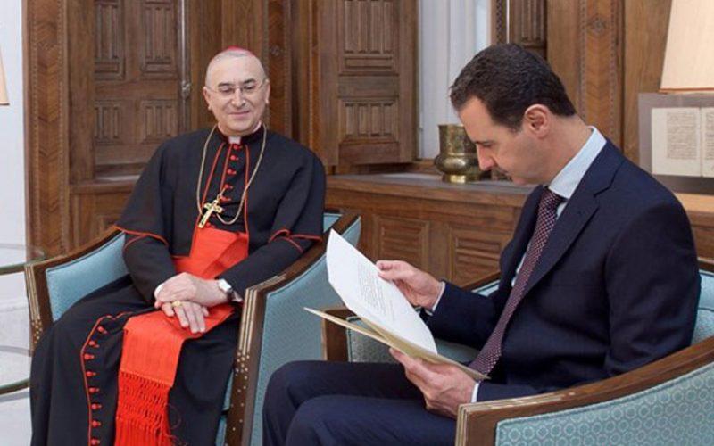 Папата испрати писмо до сирискиот претседател Асад