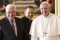 Папата го прими во аудиенција палестинскиот претседател Абаз