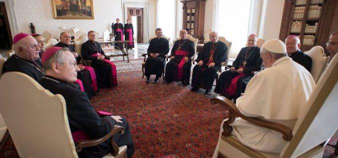 """Членовите на Меѓународната епископска конференција """"Свети Кирил и Методиј"""" на Ад Лимина посета во Рим"""