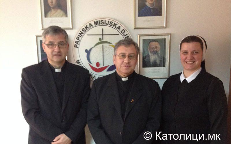 Бискупот Стојанов ја посети управата на Папските мисиски дела во БиХ