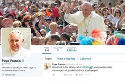 Папата на твитер: Исус е верен пријател Кој никогаш нѐ не напушта