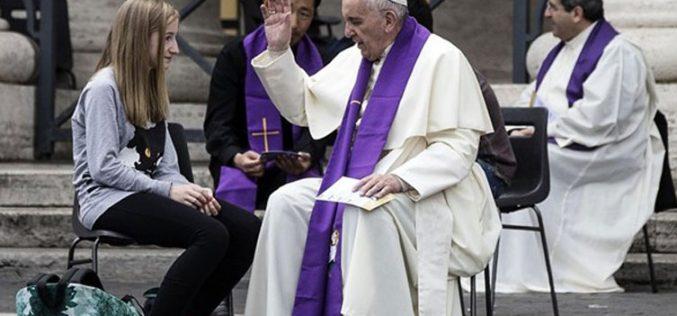 """Папата повика за иницијативата """"24 часа за Господ"""""""
