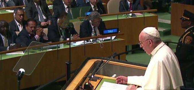 Папата од ООН побара забрана на нуклеарно вооружување
