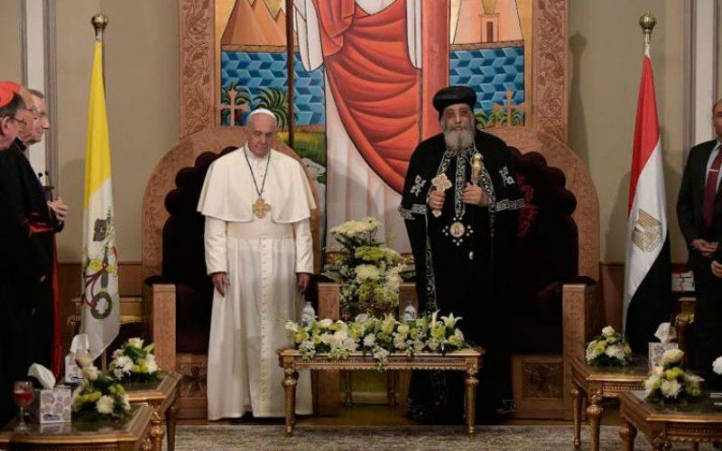 Порака со благодарност од Папата до патријархот Тавадрос II