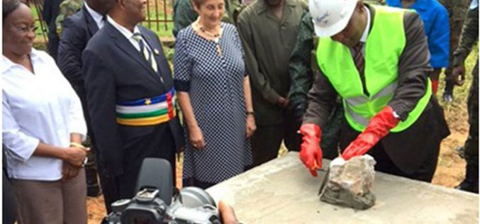 Во Банги поставен камен темелник на нова детска болница