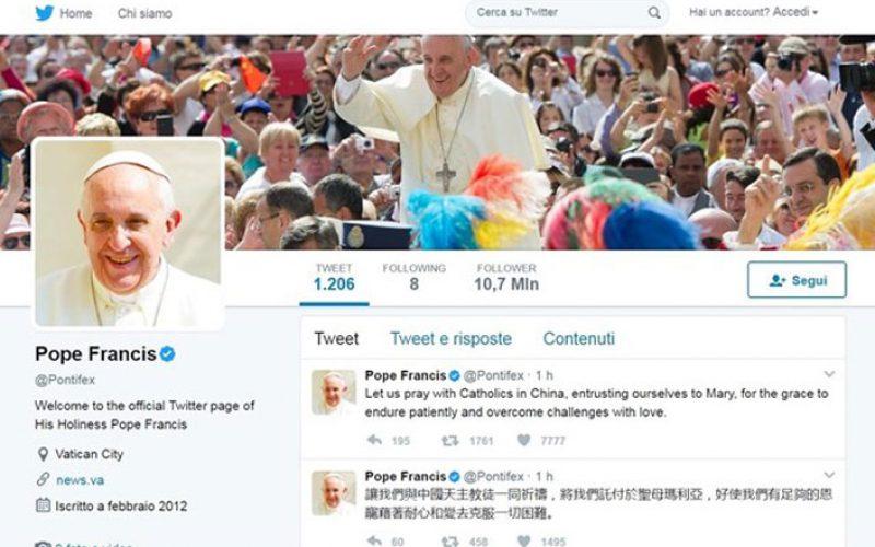 Папата на Твитер: Бог ме љуби. Бог никогаш не ме напушта