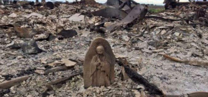 Ураганот Харви и статуата на Богородица