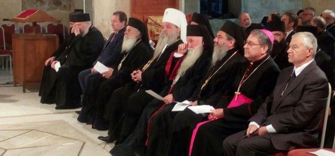 Бискупот Стојанов присуствуваше на прославата 50 годишнина од возобновувањето на Охридската Архиепископија