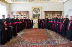 Папата со членовите на Синодот на Калдејската Црква
