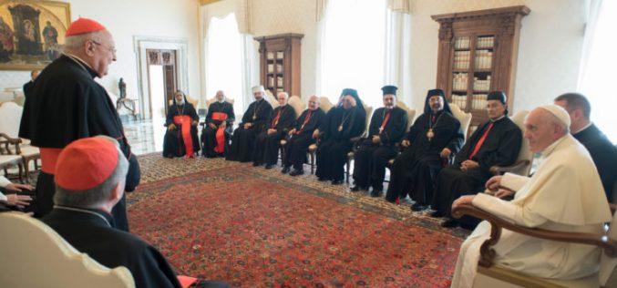 Папата се сретна со поглаварите на Источните католички цркви