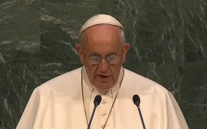 По повод денот на ООН папата Фрањо објави порака на Твитер