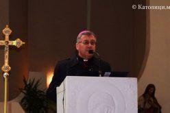 Поздравен говор на Н. В. П. монс. д-р Киро Стојанов до Н. Е. Винко кард. Пулиќ по повод духовната обнова на Духовенството од Скопска бискупија и Апостолскиот егзархат