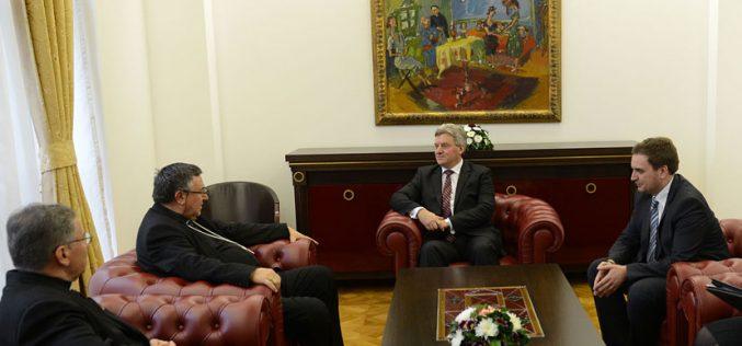 Кардинал Пуљиќ се сретна со претседателот Иванов
