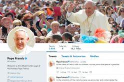 Твитер порака на Папата: Мирот е возможен