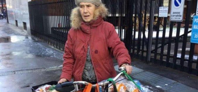 Пензионерка со големо срце: Собира храна за најсиромашните
