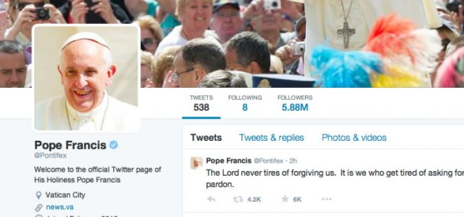 Папата: Христијанскиот живот мора да се вложува за Исус и да се троши за другите