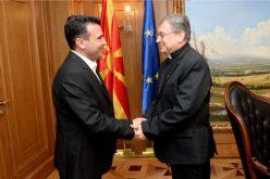 Премиерот Заев упати писмо со честитки до бискупот Стојанов по повод воздигнувањето на Апостолскиот егзахрхат во Епархија