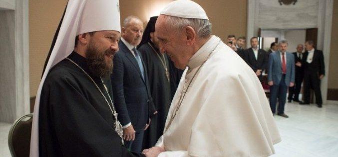 Папата прими делегација на Руската Православна Црква