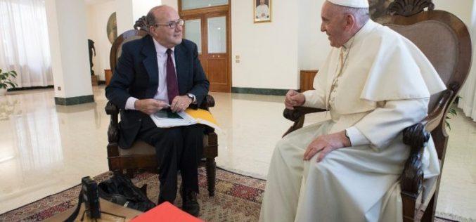 Папата даде интервју за Ројтерс