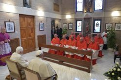 Папата со новите кардинали го посетија почесниот папа Бендикт XVI