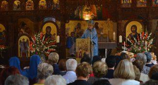 Проповед на епископот Стојанов на празникот Успение на Пресвета Богородица во Струмица