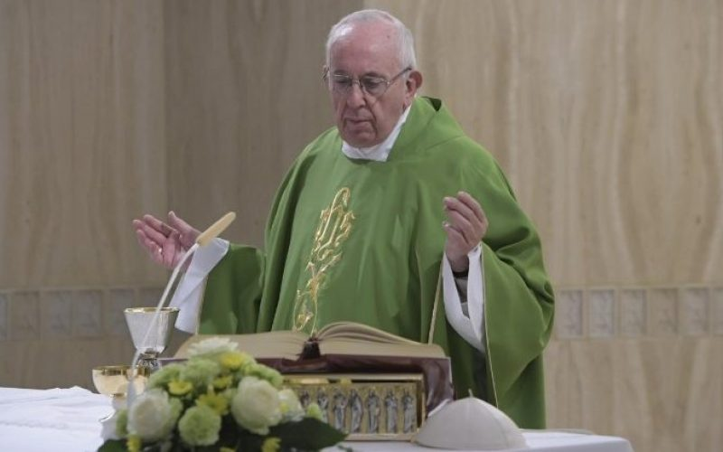 Папата: Мора да научиме да се обвинуваме себе си, а не другите
