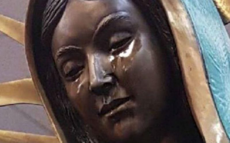 Америка: Повторно просолзи статуата на Богородица
