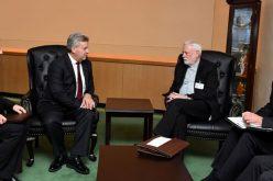 Претседателот Иванов оствари средба со надбискупот Галагер, секретар за односи со државите на Светиот Престол