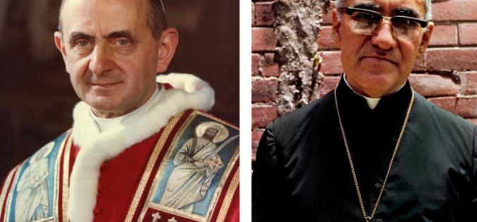 Свечена канонизација на папата Павле VI и надбискупот Ромеро