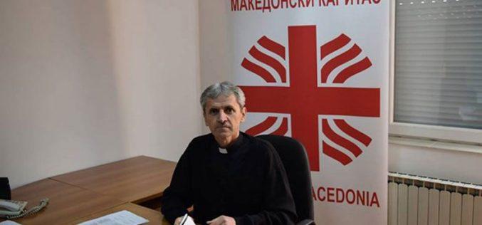 Честитка од Македонски Каритас до епископот Стојанов по повод инаугурацијата на новата епархија и устоличувањето на првиот Епарх