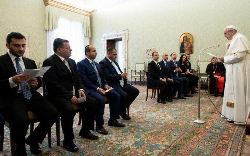 Папата прими делегација рабини од Светскиот конгрес на Евреи од Кавказ