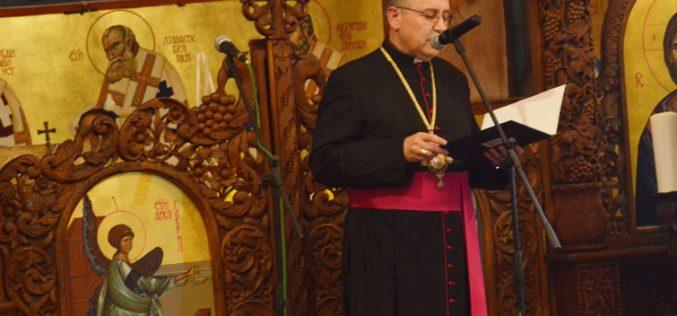 Обраќање на епископот Стојанов на свечената академија во Струмица