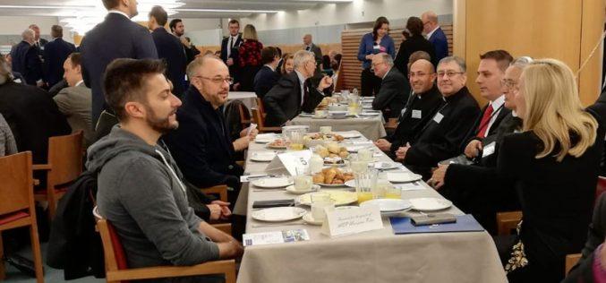 Бискупот Стојанов на 21. Европски молитвен појадок во ЕП во Брисел