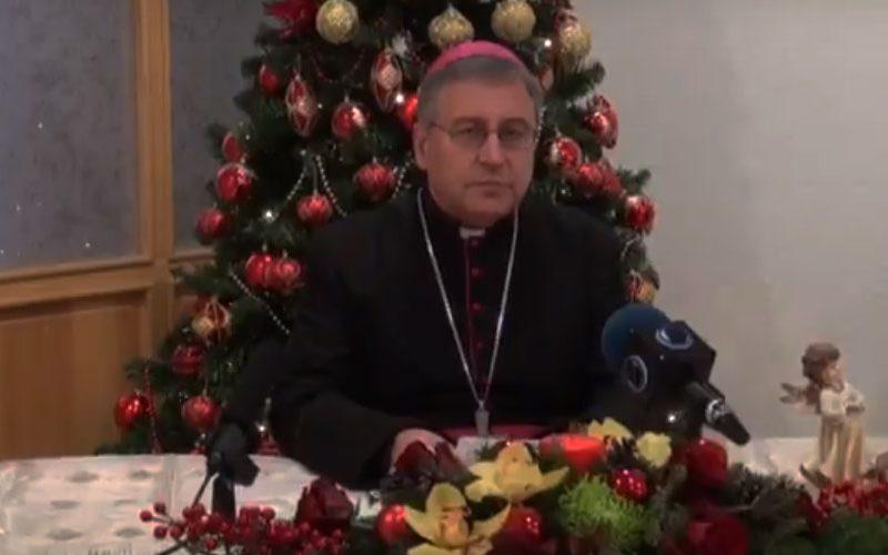 (ВИДЕО) Божиќна честитка на Н.В.П. д-р Киро Стојанов, Скопски бискуп и епарх Струмичко – скопски