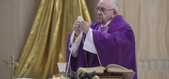 Поттици на папата Фрањо во 2018 година од домот Света Марта