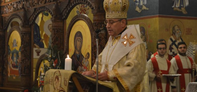 Епископот Стојанов служеше Божиќна Литургија во Струмица