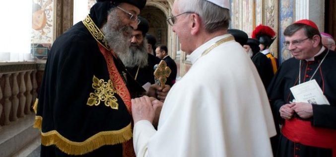 Папата упати видео порака до Коптската православна црква