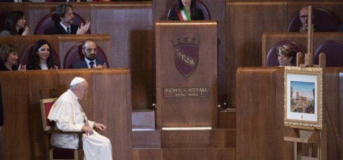 Папата: Рим светилник на цивилизацијата и учител за гостопримството