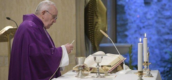 Литургија во Света Марта: Незадоволството е презир на надежта