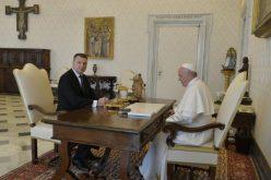 Папата го прими претседателот на Латвија