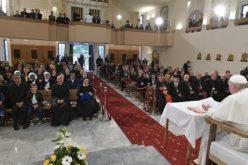 Средба на Светиот Отец со свештениците, нивните семејства и богопосветените лица