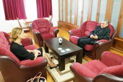 Бискупот Стојанов ја прими во проштална посета амбасадорката на Хрватска