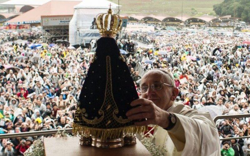 Папата го честиташе на Бразилскиот народ празникот Богородица од Апарецида