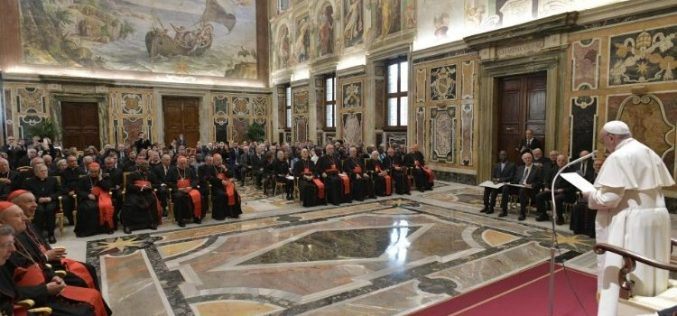 Папата Фрањо на доделувањето на Наградата Рацингер: Наша должност е да бараме патишта за средба со Бог