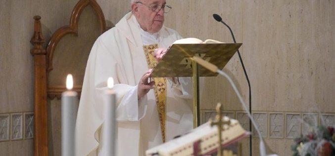 Папата во Домот Света Марта: 'Не' за духот на светот, кој води во расипаност