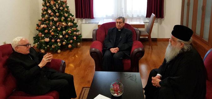 Апостолскиот нунциј и епископот Стојанов се сретнаа со архиепископот г.г. Стефан