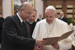 Папата Фрањо го прими во аудиенција ирaчкиот преседател Бархан Салих