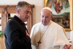 Папата го прими претседателот на Претседателството на Босна и Херцеговина, Комшиќ