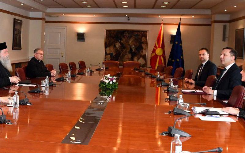 Средба на верските поглавари со премиерот Спасовски